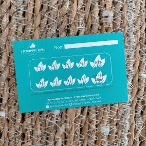 carte de fidélité massage son beauté à domicile le havre agglomération du havre bien-être détente relaxation