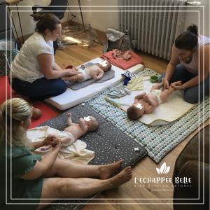 atelier massage bébé à domicile le havre et son agglomération bien-être détente relaxation